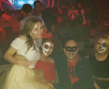 Divertimento con belle donne mascherate per Halloween 2016 a Timisoara