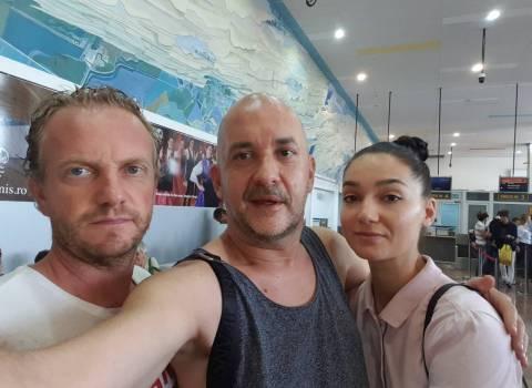 1-09-2018 Aereoporto di Timisoara, rientra Michele in Italia