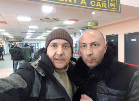 31-12-19 Aeroporto Timisoara con Mario Vidican, si rientra