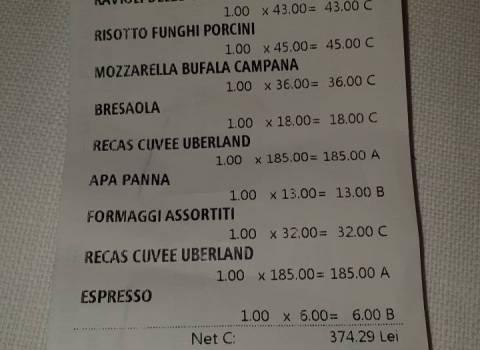 26-01-19 Dove vedere i prezzi in roni per ristoranti italiani in Romania?