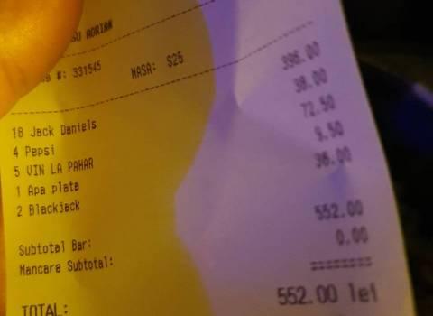 Quanto costa il tavolo con belle gnocche in Romania in discoteca 11-01-2020