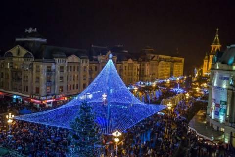 Grande mercato di Natale in Romania